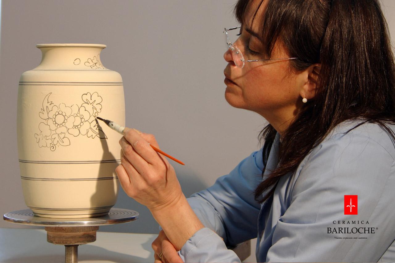 Alta calidad, decoración a mano en línea Mayólica