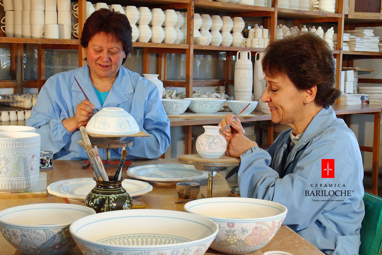 Decorado a mano línea cerámica Mayólica