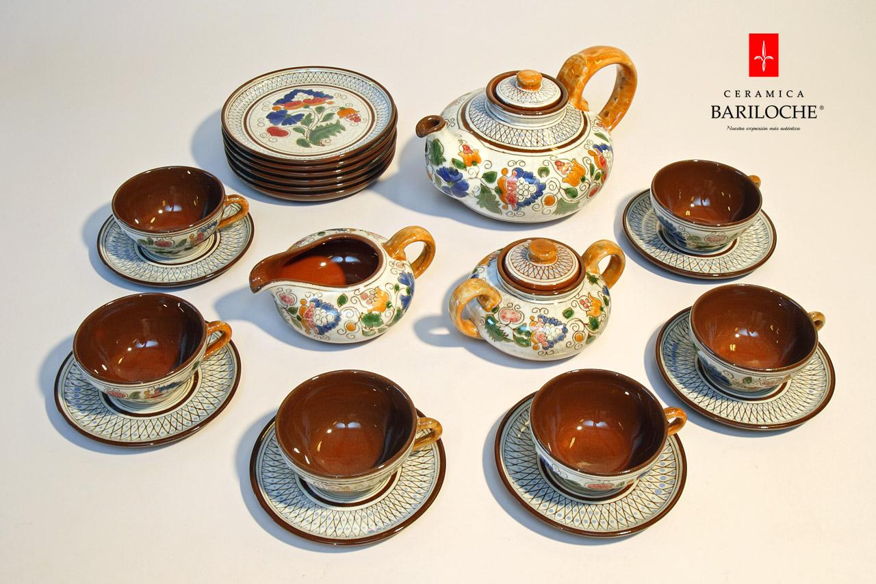 juego de te porcelana roja ceramica bariloche1