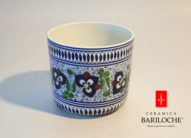 Maceta en Pensamiento Ceramica Bariloche