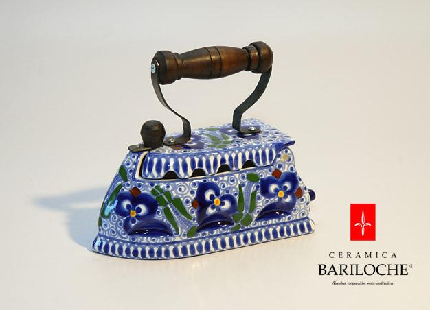 Plancha decorativa en Pensamiento Ceramica Bariloche